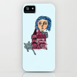Coraline and Kitty iPhone Case