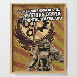 Fallout 3 - Brotherhood of Steel recruitment flyer Serving Tray