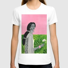 girl with a flower T-shirt