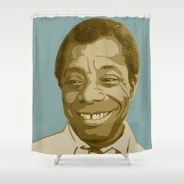 James Baldwin Shower Curtain