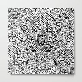 Beautiful vintage floral leaf seamless pattern Metal Print