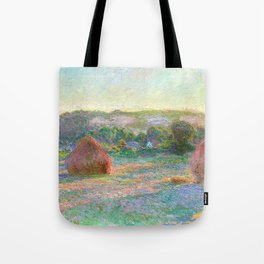 Stacks of Wheat (End of Summer) - Claude Monet Tote Bag