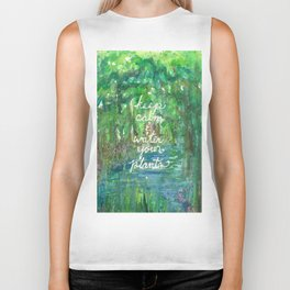 Keep Calm & Water Your Plants Biker Tank