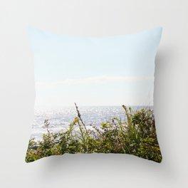 The Ocean Calls (Summer) Throw Pillow