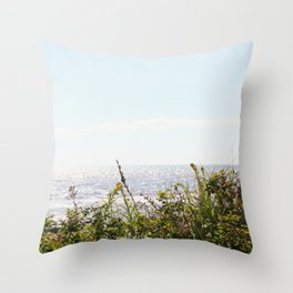 The Ocean Calls (Summer) Throw Pillow