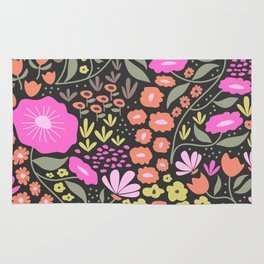 Night flowers Rug