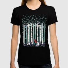 The Birches Black MEDIUM Womens Fitted Tee