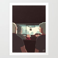 Day Trippers #7 - Taxi Art Print