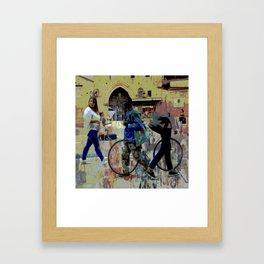 Bologna street Framed Art Print