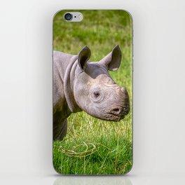 Baby Black Rhino. iPhone Skin