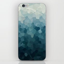 Ice Blue Mountains Moon Love iPhone Skin