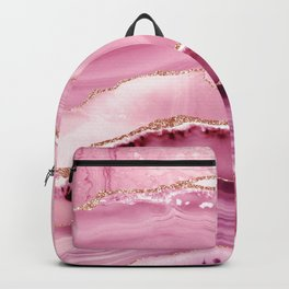 Pink Mermaid Marble  Backpack