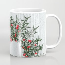 Hearts and Holly Xmas wreath Coffee Mug