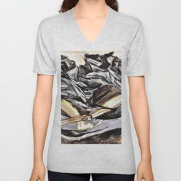 Jose Clemente Orozco - Death and Resurrection - Digital Remastered Edition Unisex V-Neck