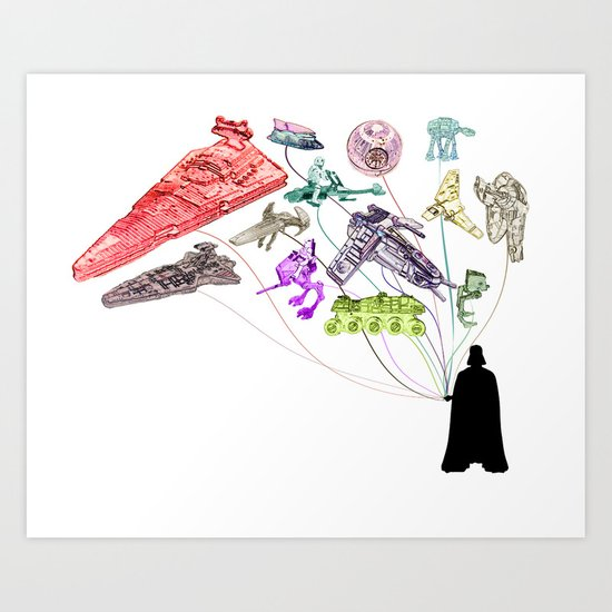 Balloons From the Darkside Art Print