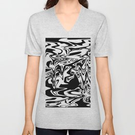 snow and shadow, abstract Unisex V-Neck