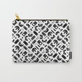 Control Your Game - Black on White Carry-All Pouch