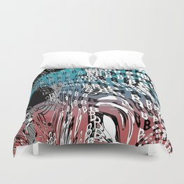 For Type Lovers. B for bubbles. Duvet Cover