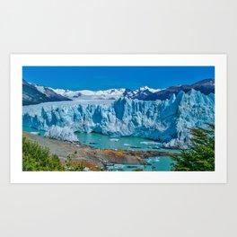 Argentinian Glacier Art Print