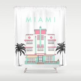 Miami Art Deco Vibes Shower Curtain