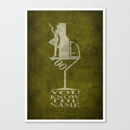 Movie Poster - Secret agent 7 Canvas Print