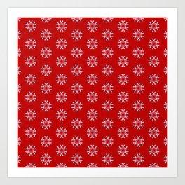 Snowflake Abstract Pattern Art Print