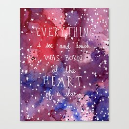 born at the heart of a star Canvas Print
