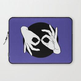 Sign Language (ASL) Interpreter – White on Black 02 Laptop Sleeve