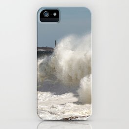 Huge waves on the backshore iPhone Case
