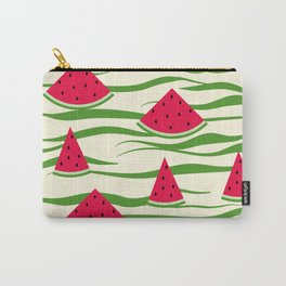 Watermelon pattern . 2 Retro . Carry-All Pouch