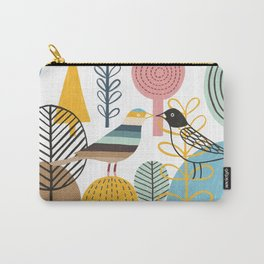 Two Kissing Birds in the Woods Carry-All Pouch