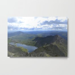 Mountain Lake on Mount Snowdon, Wales Metal Print