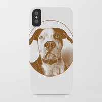 pit bull iPhone & iPod Cases featuring Pit Bull by George Peters