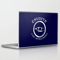 divergent Laptop & iPad Skins featuring Divergent - Erudite The Intelligent by Lunil