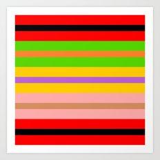 Coloured Stripes Art Print