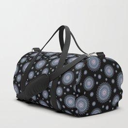 White and blue stars mandala Duffle Bag