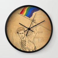 propaganda Wall Clocks featuring Putin Propaganda by Cisternas