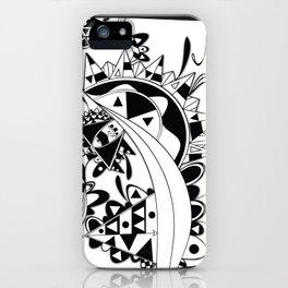 white Triangle iPhone Case