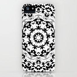 Shades Of Gray Mandala iPhone Case