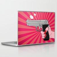 comics Laptop & iPad Skins featuring comics gun  by mark ashkenazi