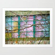 Backyard Abstract Art Print