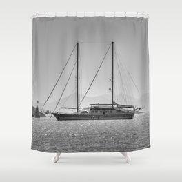 Schooner Yalikavak Marina Bodrum Shower Curtain