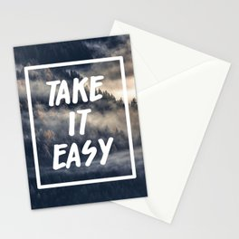 Take it easy on the mountains! Stationery Cards
