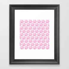 SUMMER 2017 - CORAL PATTERN Framed Art Print