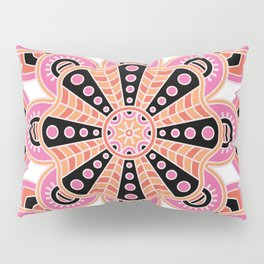 Autumn Spice Mandala- Boho Flower Bust Pillow Sham