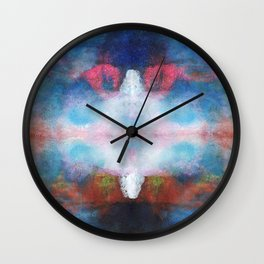 The white light | Abstract painting Wall Clock