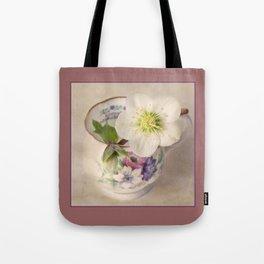 January Flower Tote Bag