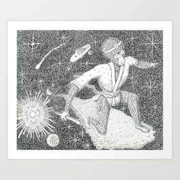Monkey King Sails the Heavens Art Print