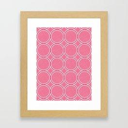 Drop Ripples - Hand Drawn Geometric Pattern (Pink) Framed Art Print
