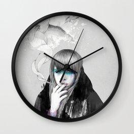 Swan Love Wall Clock